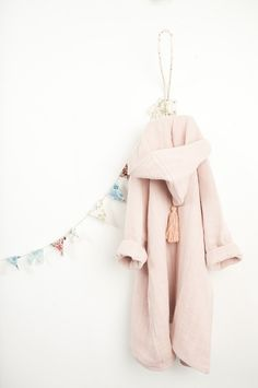 Moumout Bathrobe Pépin in faded pink