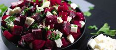 If you're looking for some inspiration for a new Salad you can't go past this delicious Beetroot and Feta Cheese Salad! All you need is Beetroot, Feta Cheese, Garlic, Lemon Vinaigrette … Feta Cheese Recipes, Cheese Salad, Healthy Salad Recipes, Healthy Snacks, Beetroot And Feta Salad, Feta Salat, Roasted Beets, Soup And Salad, Vegetable Recipes