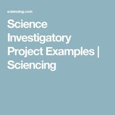science investigatory proposal
