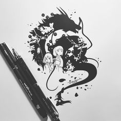Check which tattoo suits you best. Sketching Techniques, Seven Heavens, Studio Ghibli Art, Filipino Tattoos, Simple Designs, Illustration Art, Doodles, Ink, My Favorite Things