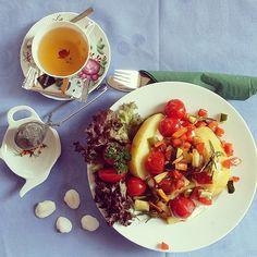 #foodporn #teatime #tastyfood #vegetables  #healty #fresh #yummyinmytummy #qualitytime #bestgrandparents👴👵❤