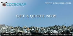 Sell Your Scrap Metal at #CCCscrap. We buy all types of ferrous and non-ferrous metals and committed to making your scrap metals selling experience fast and easy. Call us at (718)-297-6200 #Scrap_Metal_Recycling_Yard_Bronx #Bronx_Scrap_Yards Scrap Recycling, Manhattan City, Metal Prices, Long Island, Copper Wire, Great Places, Yards, Quote, Things To Sell