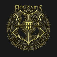 """""""Magic School"""" by Hogwarts crest featuring Gryffindor, Slytherin, Hufflepuff, and Ravenclaw Hogwarts Crest, Hogwarts Houses, Slytherin, Harry Potter Patch, Harry Potter Universal, Funny Tees, Fantastic Beasts, Adult Coloring Pages, Coat Of Arms"""