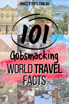 101 Gobsmacking World Travel Facts - The world is a weird and wonderful place with so much to discover. If you enjoy learning about the world to inspire you to travel to new faraway places and experience different cultures, this wander-list of fascinating world trivia will satisfy that desire. #worldfacts #travelfacts #worldtrivia #snazzytrips #worldwidefacts Travel Advice, Travel Quotes, Travel Tips, Travel Articles, Travel Info, Travel Stuff, Bucket List Destinations, Travel Destinations, Solo Travel