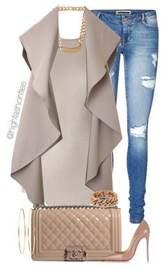 A fashion look from November 2015 featuring Rick Owens tops, Vero Moda jeans and Christian Louboutin pumps. Browse and shop related looks. Trend Fashion, New York Fashion, Look Fashion, Runway Fashion, Autumn Fashion, Womens Fashion, Feminine Fashion, Classy Outfits, Chic Outfits
