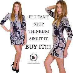 If u can't stop thinking about it, Buy it!!! Shop our latest collection only on www.baysidebarcelona.com #baysideclothing #baysidebarcelona #shortdress #snakeprint #zip #stylishwear #attitude #smartwear #newcollections #classywear #fashionablewomen #fashioninsta #fashionblogger #fashiondairy #onepiecedress ##fashioninspiration #fashiondiva #luxurylife #luxuryfashionlove #loveforstyle #loveforfashion #likesforlikes #likesusoninstagram #followme #followusontwitter #promotebaysideclothing…