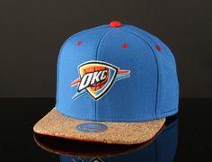 Cork Oklahoma City Thunder Snapback Cap by MITCHELL & NESS