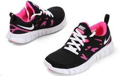 Nike Free Run 2 Femme Noir Rose Trainers Pas Chere Taille 37