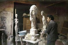 Giacometti's studio in Paris. Image by Ernst Scheidegger.