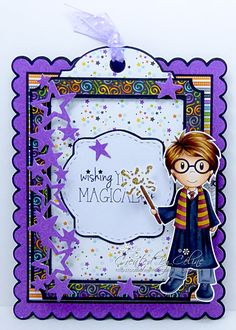 "Passionately Cards: GDT The Paper Nest Dolls ""Boy Wizard"""