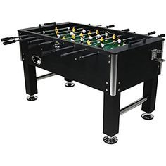 Sunnydaze 55 Inch Foosball Game Table with Drink Holders | Foosball And Pool Tables
