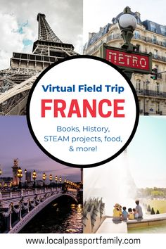 Virtual Travel, Virtual Tour, France For Kids, Movement Activities, Music Activities, First French Empire, Virtual Field Trips, Tours France, Visit France