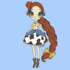 Jessie (Drawing by Bigham_Illustration Pixar Movies, Disney Films, Disney Cartoons, Disney Pixar, Disney Characters, Disney Princesses, Disney Nerd, Disney Fan Art, Baby Disney