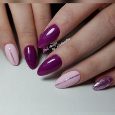 Mar 3 2020 - Purple and pink glitter nails - Nails - # Glitter nails # purple # nails # pink . Purple And Pink Nails, Pink Glitter Nails, Sparkly Nails, Nail Pink, Orange Nail, Purple Nail Art, Matte Pink, Gold Nails, Pink Eyes