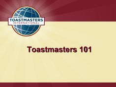 Heres a presentation you can modify that gives a high-level overview of Toastmasters and your club to new members and guests.