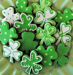 St Patrick's Day cut out cookies