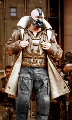 Bane, Tom Hardy. Lindy Hemming costume design for The Dark Knight