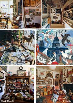 The studio and home of artist Mark Hearld, York