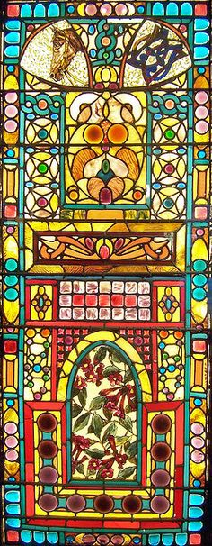 Stain glass windows are beautiful to begin with, but this stain glass window truly captures the beauty in the Victorian Era and the sophisticated feel of the era.