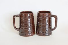 Vintage Marcrest Daisy Dot Tankards Tall Coffee