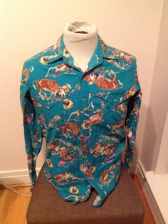 Wrangler Professional Rodeo Cowboys Association Button Down Shirt on Etsy, $30.00