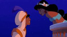 "That moment when they finally get that first kiss. | 18 Times When ""Aladdin"" Made You Get The Feels"