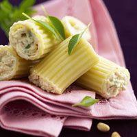 .^. Cannellonis courgettes et chèvre frais