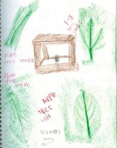 Nature Journal with rubbings One word to describe what they heard Two words for something they saw Three words for something they felt