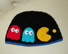 Ravelry: Not Afraid of No Ghosts! ( Pac-Man Inspired ) Hat Pattern pattern by Yarn Artists