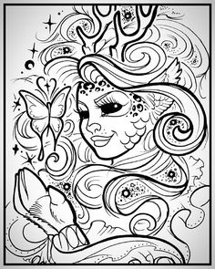 mother nature coloring pages | Masquerade colouring page | Beautiful Women Coloring Pages ...