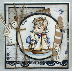 Love Mo Manning's children, and this one is wonderful for a boy's birthday.  Mo Manning Sailor Boy