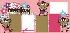 Little Monkey - Girl Page Kit