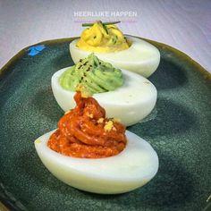 Duivels lekkere eitjes, voor elk feestje - Heerlijke Happen Egg Omelet, Party Finger Foods, High Tea, Tapas, Panna Cotta, Buffet, Food And Drink, Eggs, Pudding
