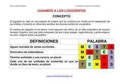 Altas Capacidades Jugamos a los Logogrifos y anagramas