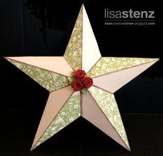 pattern here -Lisa's Creative Corner: My Creations Christmas Star