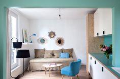Un petit salon aux inspirations nordiques / Living room and northen inspirations - Marie Claire Maison