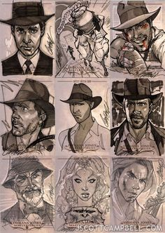 Artist J. Campbell | Featured sketch card artist: J Scott Campbell