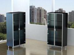 Tonin Casa Glass Contemporary Curio Cabinets