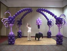 Beautiful Whimsical Purple Balloon Arch