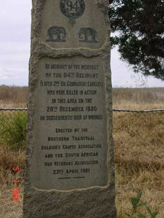 Battle of Bronkhorstspruit Memorial Killed In Action, Armed Conflict, British Army, Afrikaans, African History, Cold War, Military History, Homeland, Warfare
