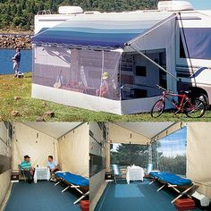 Rv Screen Rooms For Awnings | ... Room - 18' Enclosed screen room that hangs from your patio awning