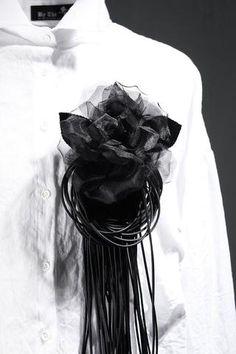 Dark Rose Fringe Detail Brooch