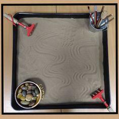 """Calming lessons Zen-type sand play from Rachel ("""",)"""