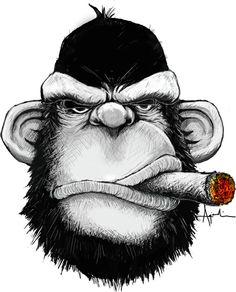 Cigar Monkey Art Print by Keith Agcaoili | Society6