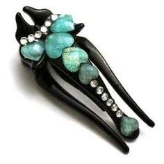 Blue Aqua Hearted lobster hair clip.  #Joe's Crabshack