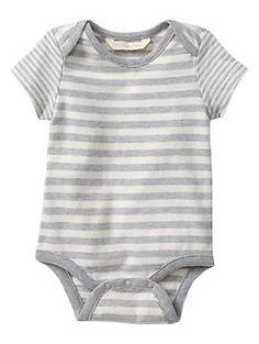 Organic multi-stripe bodysuit   babyGap