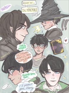 That one AU where Harry Potter is sorted into Slytherin, Tom Riddle was born on and Snape has to deal with a lot of problems. Harry Potter Disney, Fanart Harry Potter, Harry Potter Comics, Harry Potter Sempre, Arte Do Harry Potter, Harry Potter Severus Snape, Slytherin Harry Potter, Harry Potter Ships, Harry Potter Drawings