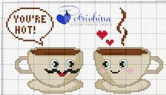 Cross Stitch Charts, Cross Stitch Patterns, Crochet Patterns, Cross Stitching, Cross Stitch Embroidery, Plastic Canvas Patterns, Pixel Art, Applique, Kitchen
