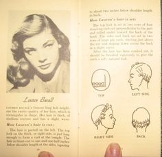 Victory Vintage: Pin Curl Sets and Lauren Bacall Hair!