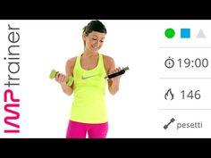 Braccia Toniche! Esercizi per le Braccia con Pesetti - YouTube